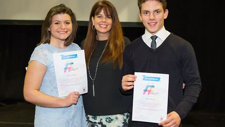 Two newly graduated NCS Team Mentors, Beth Gedge and Ben Swales, with Sasha Courtney-Jenner, CWA/NCS
