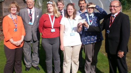Wisbech Freemasons donate £500 to Meadowgate School Horticulture Department
