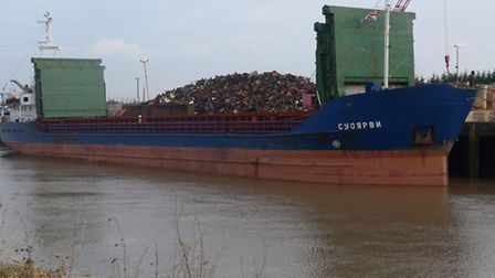Wisbech fire crews visit a Russian cargo ship to learn more about fires on ships