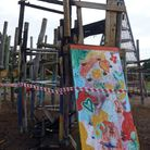 Fire at the adventure playground at the Spinney in Wisbech