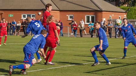 Action from Wisbech v AFC Kempston Rovers. Picture: BARRY GIDDINGS.