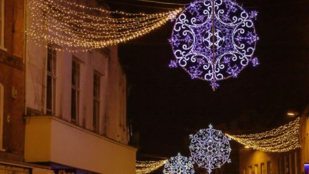 Last year's Christmas lights in Wisbech.