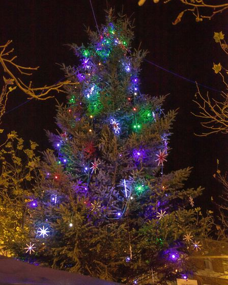 Wisbech's Christmas tree is lit up in last year's Christmas lights switch-on.