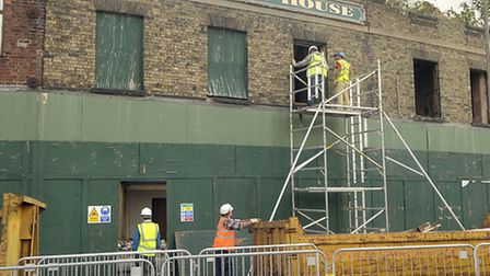 Constantine House in Wisbech that is finally getting work done after it being derelict since 2010