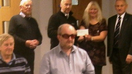 £500 cheque for Wisbech District and Stroke Club