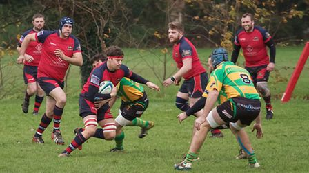 Action from Wisbech's impressive 57-5 victory over Norwich Crusaders.