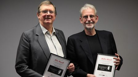 Mike Newelll and Walter Murch at the University of Hertfordshire