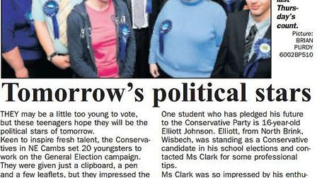 Where it all began...from Wisbech Standard of 2010