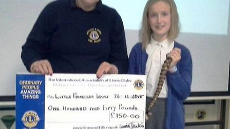 11-year-old Millie Cousins has raised over £1,300 for the Little Princess Charity by having 20 inche