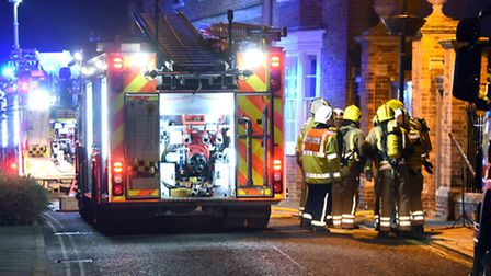 Emergency crews attended a training exercise at a building owned by Peckover House in Wisbech last n