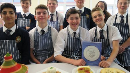 Wisbech Grammar School Fourth Form pupils with their foodie creations
