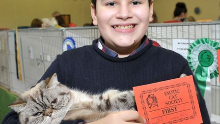 15th Exotic Cat Show championships held at Tydd St Giles Community Centre. Wisbech. Miguel W Charlto