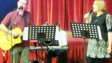 The King's Church band playing at the Contemporary Christmas Carols event.