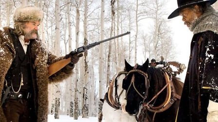 Kurt Russell and Samuel L Jackson in The Hateful Eight