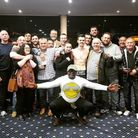 WGC boxer Kyran O'Neill with his coaching team and supporters