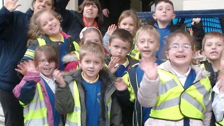 Anthony Curton School and Tilney All Saints Primary School pupils on their trip to the Theatre Royal