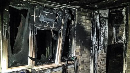 Fire destroys house at Colville Road, Newton