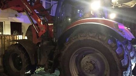 The abandoned tractor in Wisbech