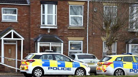 Churchill Road, Wisbech, today where a man was stabbed on Monday night. He died in hospital today.