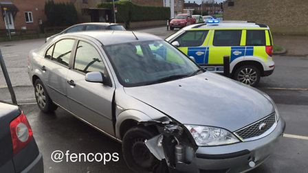 10.20am and drink driver in Wisbech crash arrested - he was four times over limit