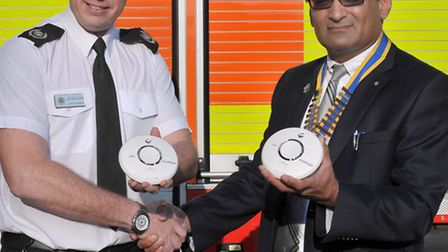 Wisbech Rotary Club to fund community smoke alarms, Left: Chris Parker head of community safety and