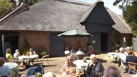 Volunteers enjoying a summer party at Peckover House