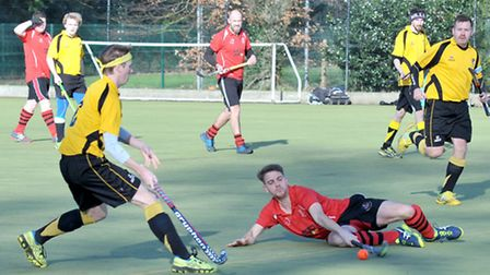 Action from Wisbech Mens Hockey 2nds v Horncastle 1sts. Picture: Steve Williams.