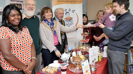 Library Day coffee morning for National Libraries Day in Wisbech. Picture: Steve Williams.