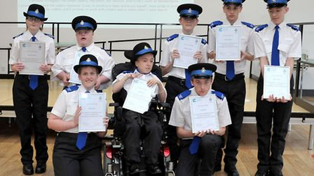 Meadowgate Volunteer Police Cadets 'Passing Out' Parade, Wisbech. Picture: Steve Williams.