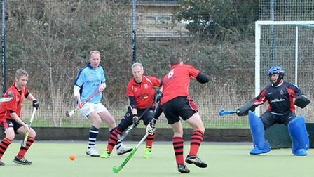 Wisbech Town Hockey Mens 2nds v Cambridge City Vets. Picture: Steve Williams.