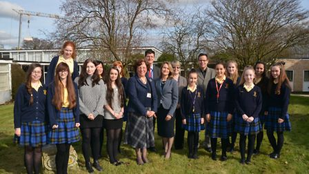 Staff & pupils celebrate their oustanding Ofsted score