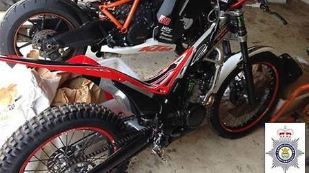 This Honda off-road motorbike was stolen from Friday Bridge, Wisbech between Friday February 6 and M