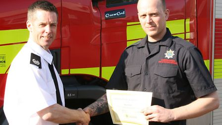 Max Coles joins Wisbech fire station