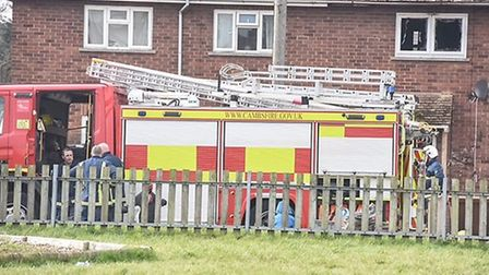 A one-year-old child has suffered serious injuries following a house fire in Wisbech this morning.