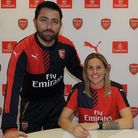 Kelly Smith signs a new contract for the Arsenal Ladies. Picture by Arsenal Media Group