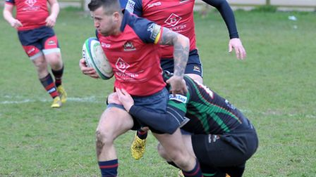 Action from Wisbech's 29-3 victory over Newmarket in the Eastern Counties Division One. Picture: Ste