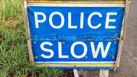 Police officers are on the scene of a crash on the A1101 at Four Gotes, Wisbech