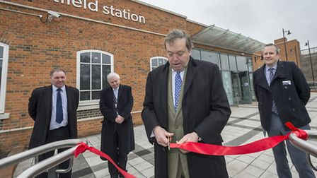 Lord Salisbury formally opened the rebuilt Hatfield Station on Friday morning.