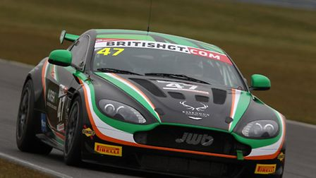 Jake Giddings' Aston Martin V8 Vantage racing car has received a face-lift before the start of the n