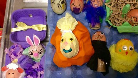 Entries from the 2015 Horsefair Easter Fun Day hard-boiled egg competition