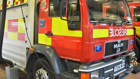 Firefighters were called to Meadowgtae Lane, Wisbech