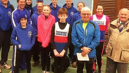Thorney Running Club members before the final Frostbite Friendly League race.