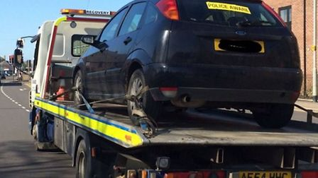 Abandoned vehicle causes traffic problems in Wisbech