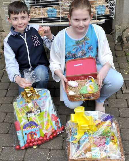 Easter Fun Day at the Horsefair Shopping Centre, Wisbech. Left: Runner up, Oliver Forth, Winner Chlo