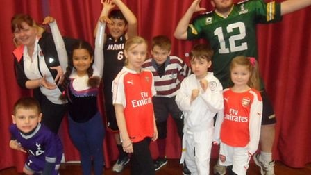 Pupils at Holwell Primary School dressed up for Sport Relief