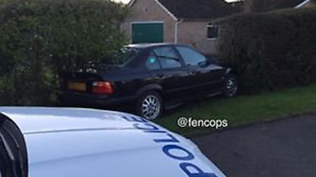 The car that was seized by police in Wisbech