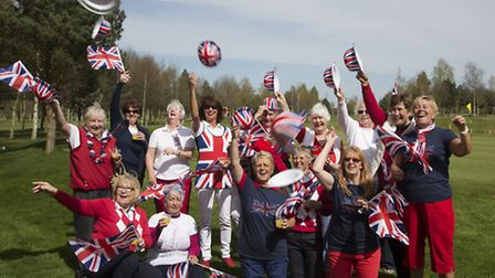 Tydd St Giles ladies' section celebrate the Queen's 90th birthday.