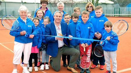 MP Steve Barclay opening Wisbech Tennis Club's all-weather courts last year.