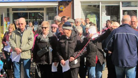 The true meaning of Easter was celebrated in Wisbech on Good Friday when over 100 people gathered to