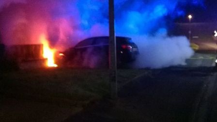 A crew from Wisbech was called to a car fire in Cherry Road, Wisbech.